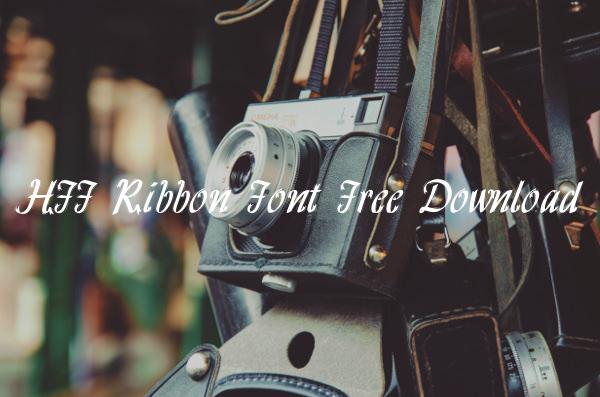 HFF Ribbon Font Free Download