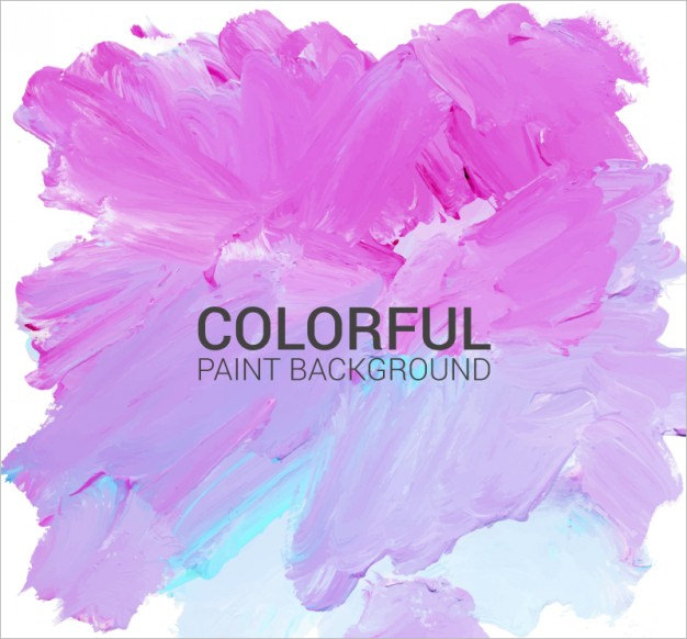 Hand Painted Background in Pink & Blue Color