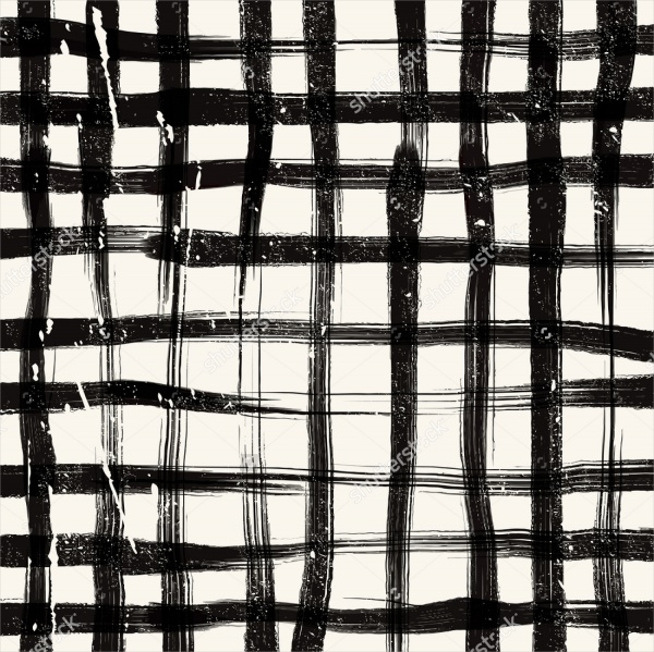 Hand Painted Grid Brushes