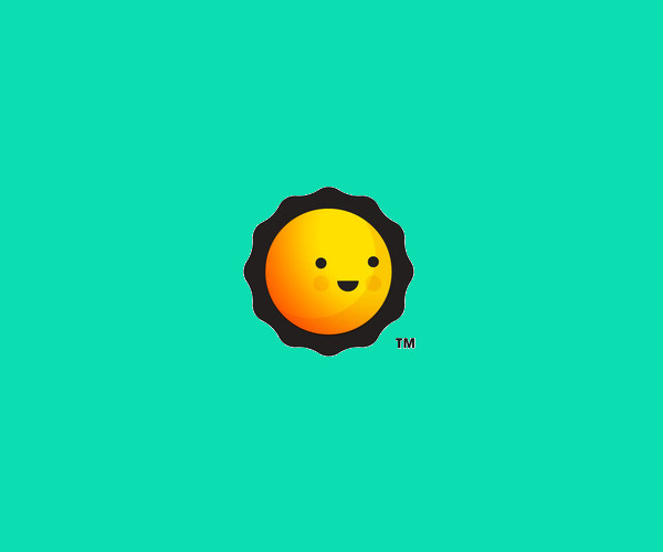 Happy Sun Design Logo For Free Download