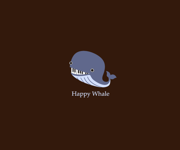 Happy Whale Logo Design For Free