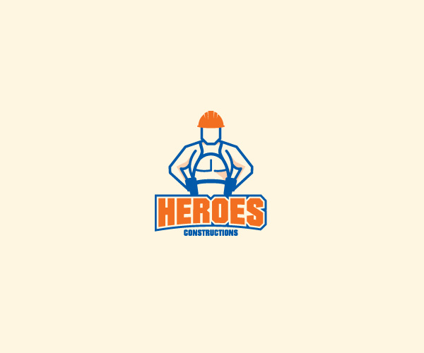 Heros Construction Logo Design For Free