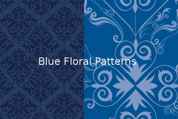 High Quality Blue Floral Patterns