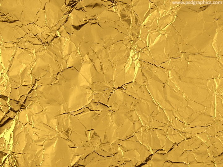 High Quality Free Gold Foil Texture with Folds and Fissures