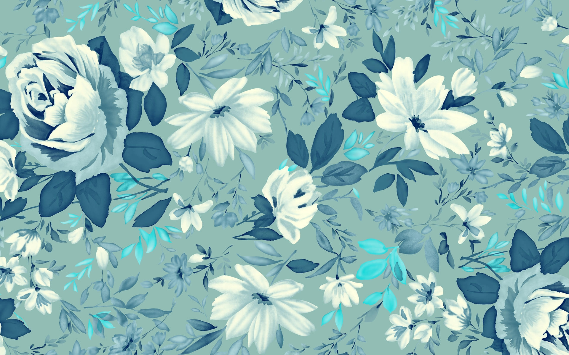 High Quality Wonderful Vintage Floral Wallpaper