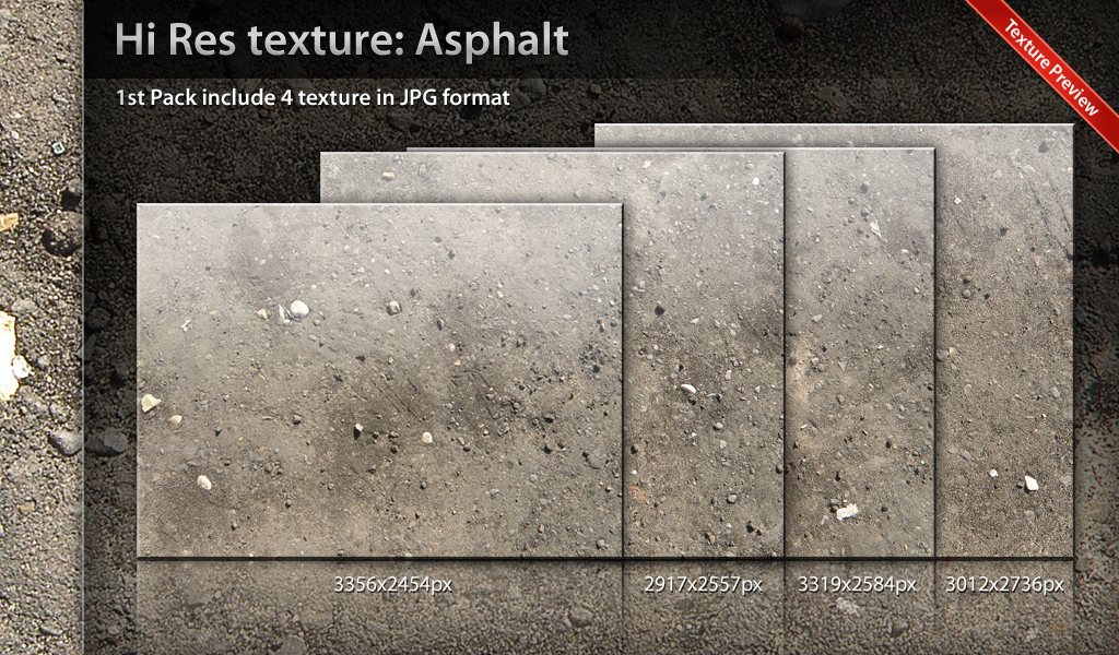 High Res Asphalt Textures Pack