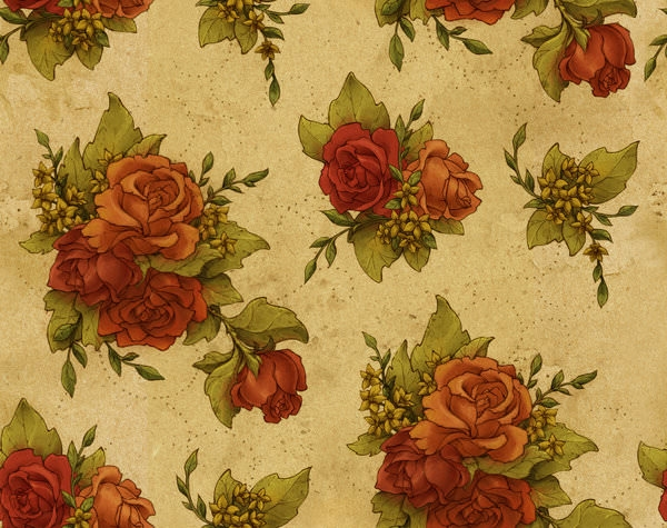 High Res Floral Wallpaper Pattern
