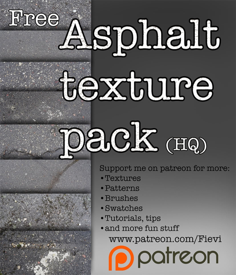 High Res Free Asphalt Textures Pack