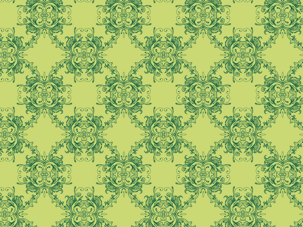 Green-Retro-Pattern