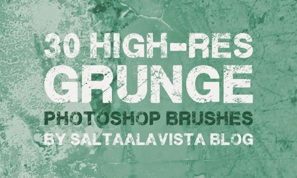 High Res Grunge Photoshop Brushes