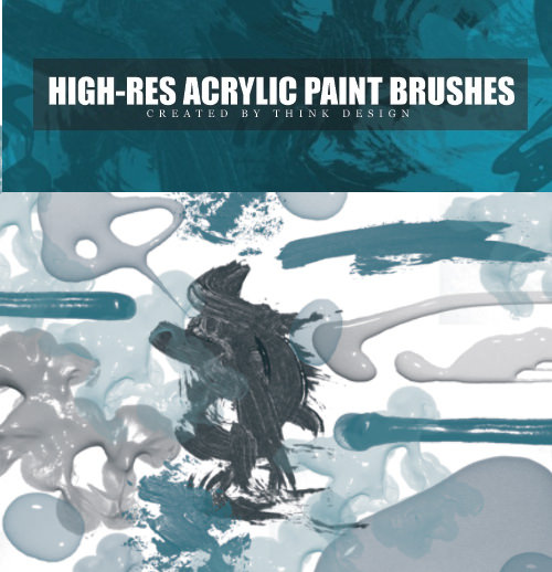 High Res Photoshop Acrylic Brushes