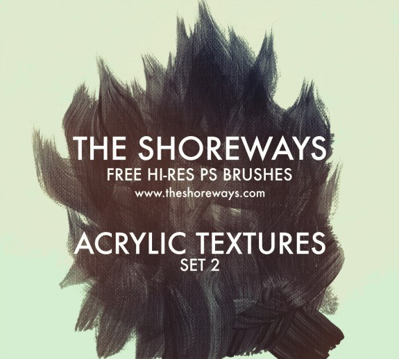 High Res Photoshop Acrylic Textures Brushes