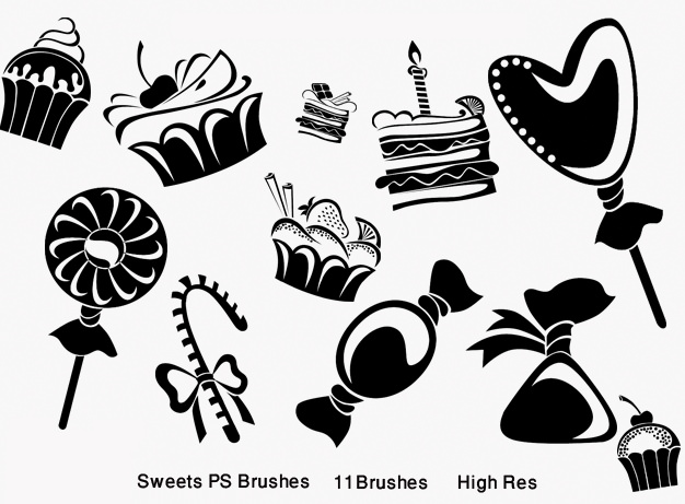 High Res Sweet Photoshop Brushes for Free Download