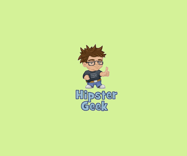 Hipster Geek Logo Design For Free