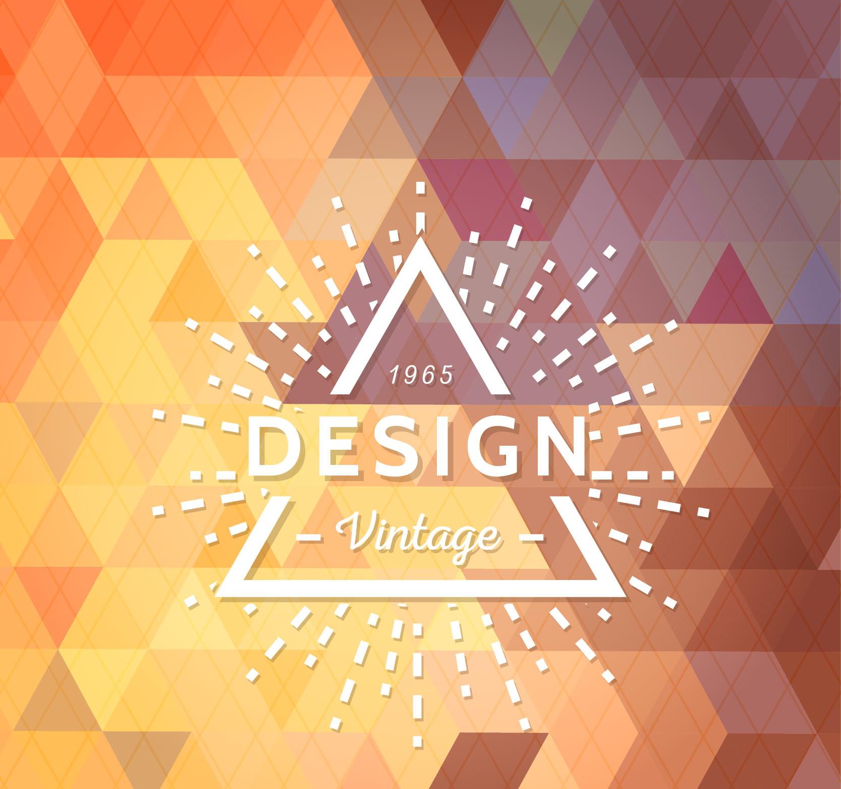 Hipster Logo on Geometric Background