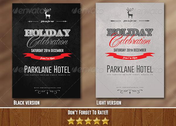 holiday celebration party invitation