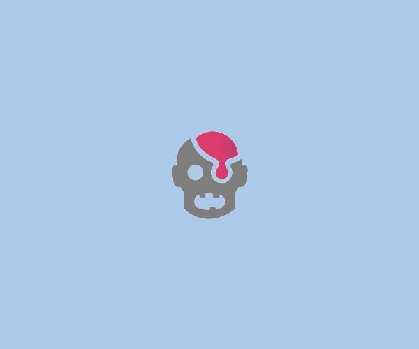 Horror Brain Logo Design For Free