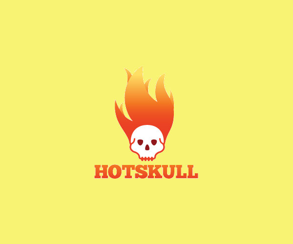 Hot Skull Logo Design For Free