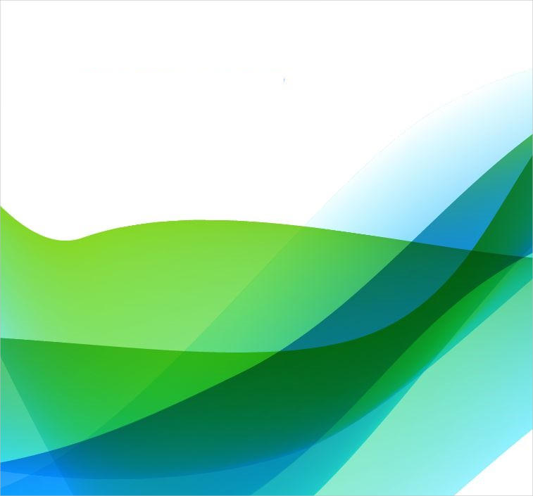 Illustration of Abstract Blue & Green Background