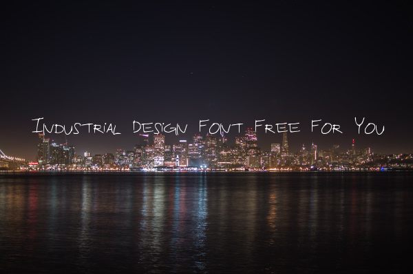Industrial Design Font Free For You