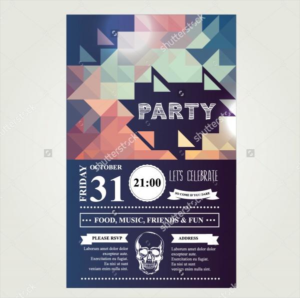 invitation disco holiday party invitation