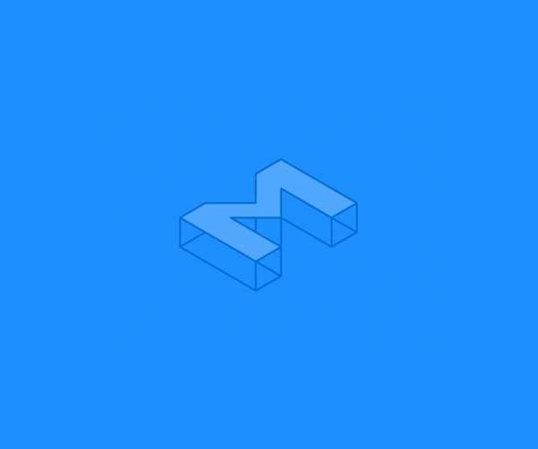 Isometric M Logo For Free