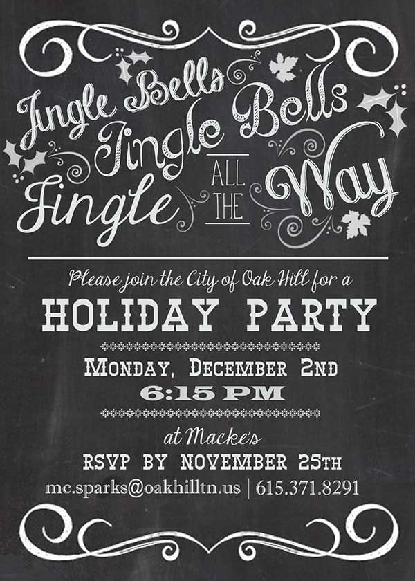 Jingle Bells Holiday Party Invitation