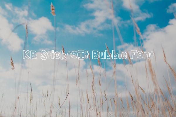KB SticktoIt Bubble Font
