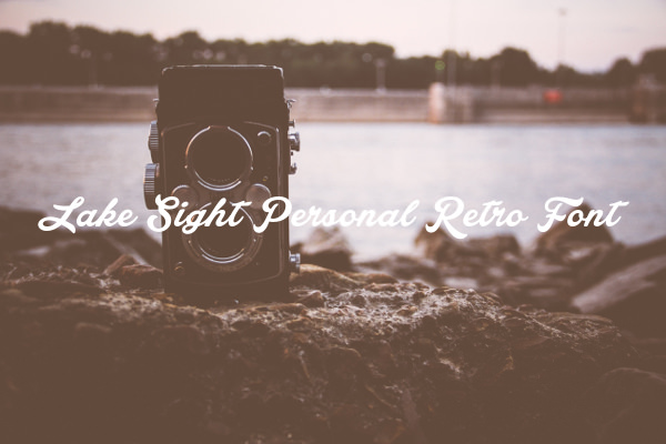 Lake Sight Personal Retro Font