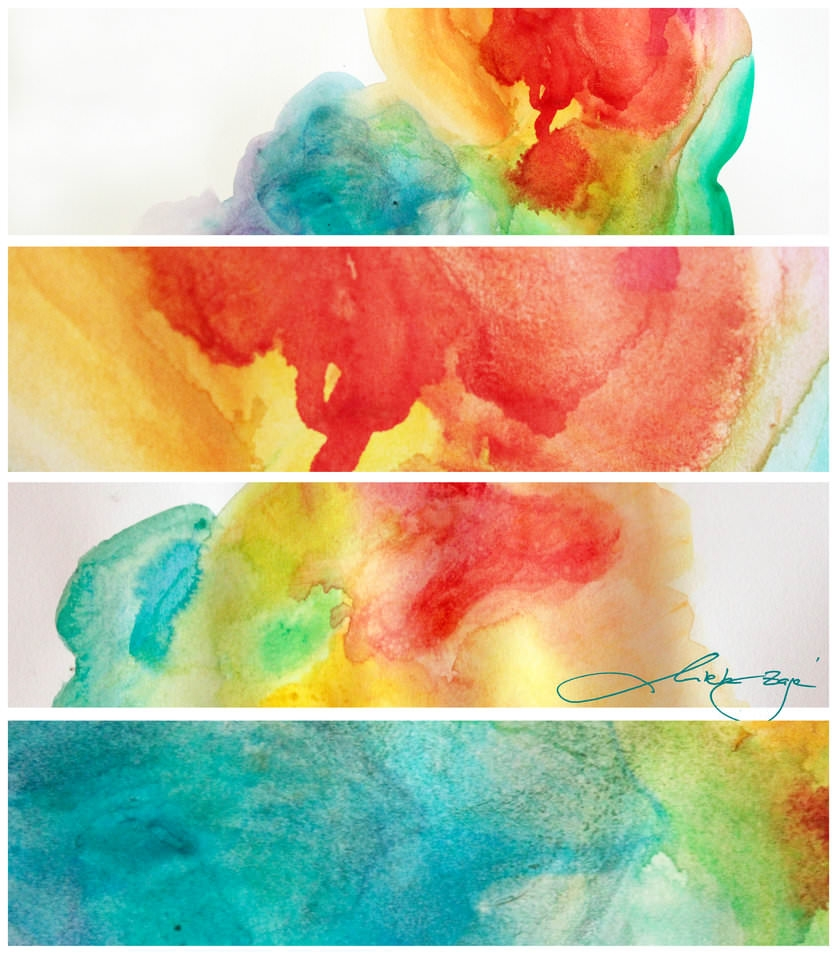 Large Watercolor Painting Textures Pack