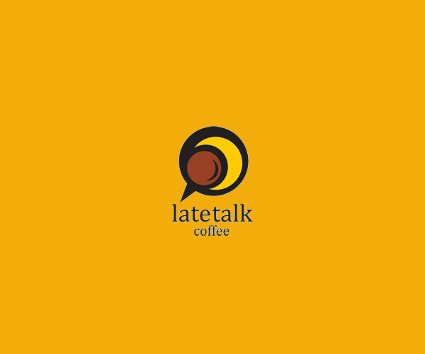 Late Coffee Talk Logo Design For Free