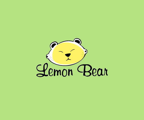 Lemon Bear Logo Design For Free