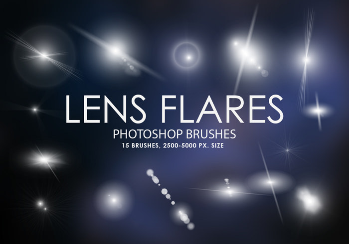 Lens Flares Free Photoshop Vector Brushes