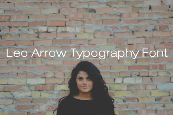 Leo Arrow Typography Font