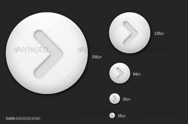 Light Arrow Button Design
