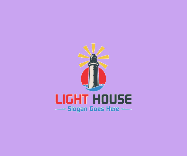 Light House Logo Design For Free Download