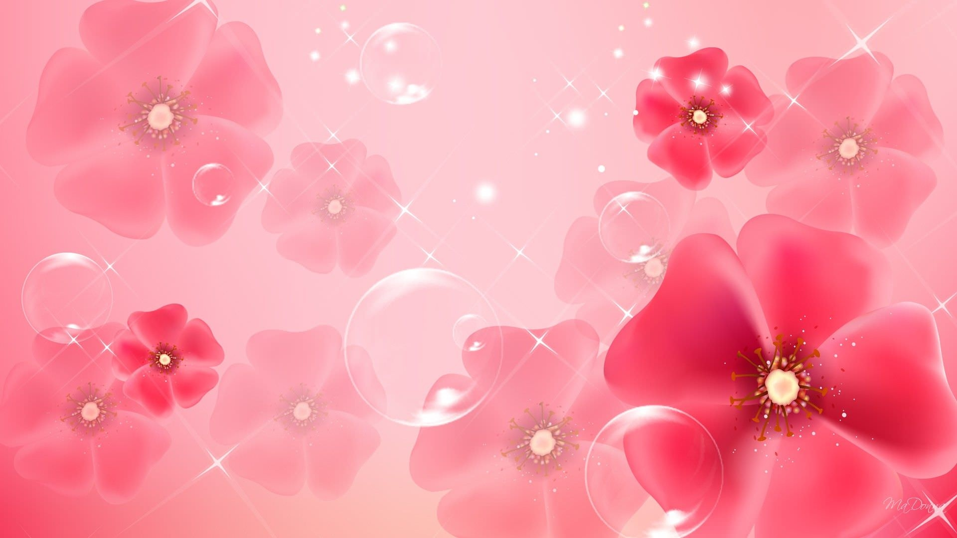 light pink floral background - photo #15