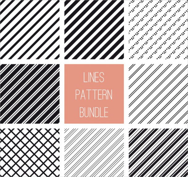 Lines Pattern Bundle Free Vector