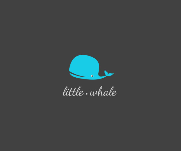 Little Whale Logo Design For Free