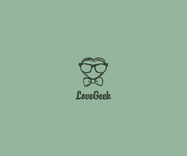 Love Geek Logo Design For Free