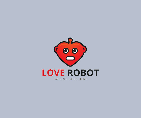 Love Robot Logo For Free Download