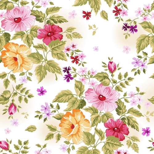Lovely Floral Pattern Wallpaper