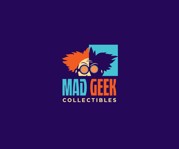 Mad Geek Logo Design For Free