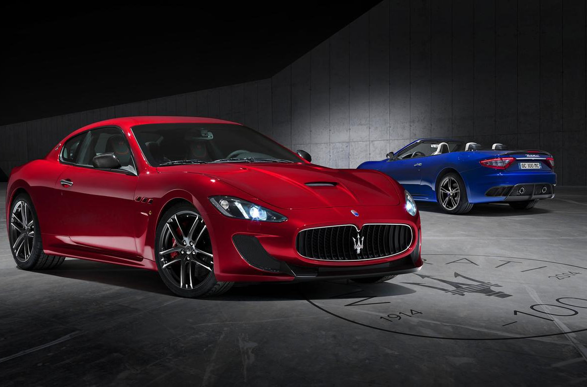 Maserati Granturismo Red & Blue Background