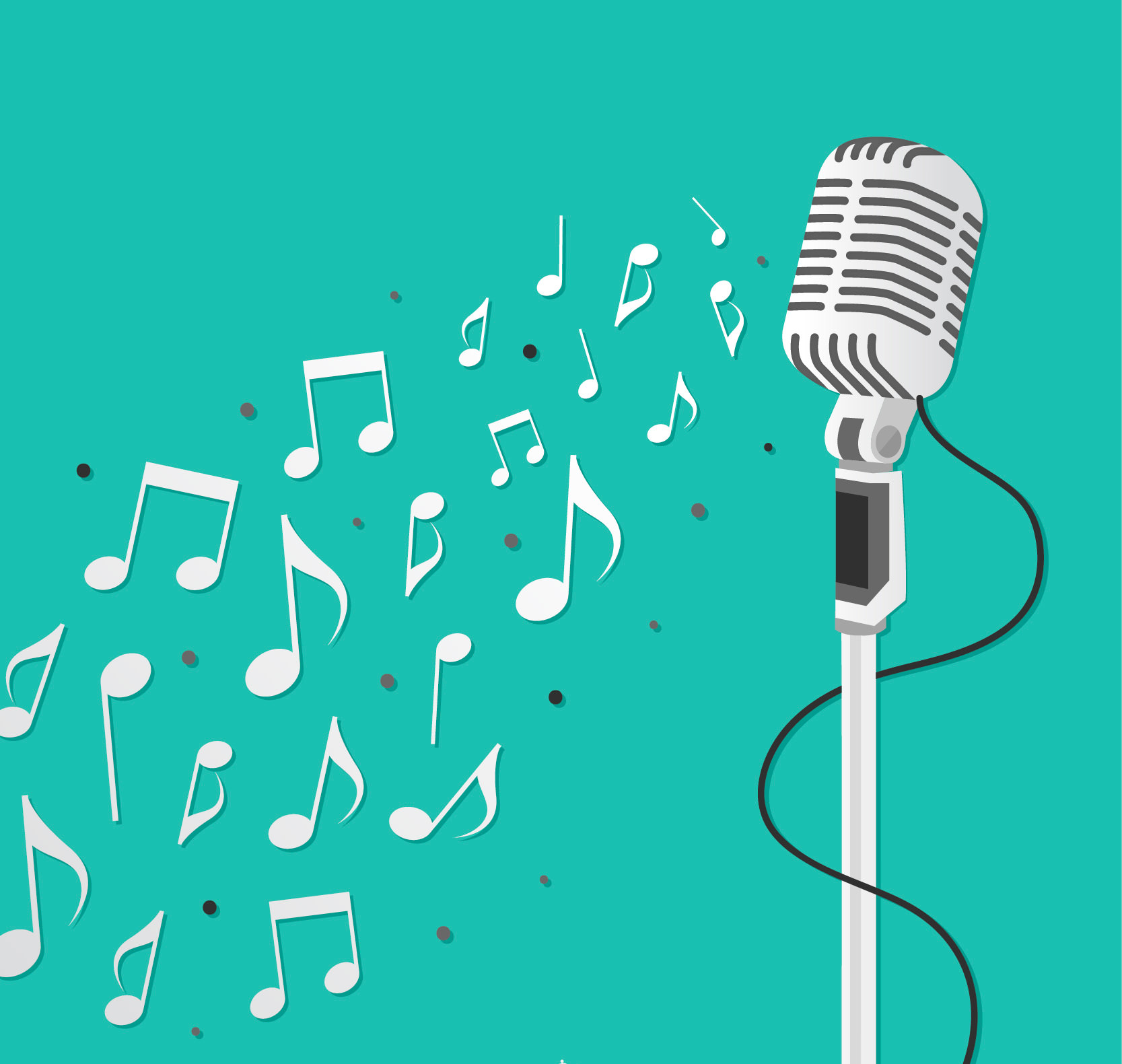 Microphone Free vector Music Background