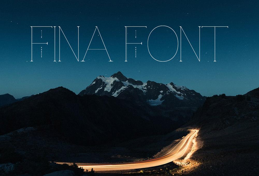 Modern Fina Font For Free