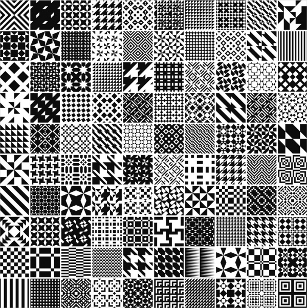 Monochrome Black & White Geometric Pattern