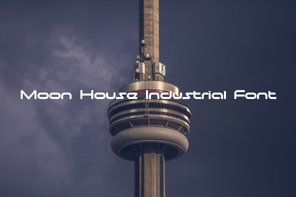 Moon House Industrial Font