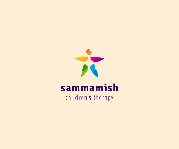 Multicolor Children Therapy Logo
