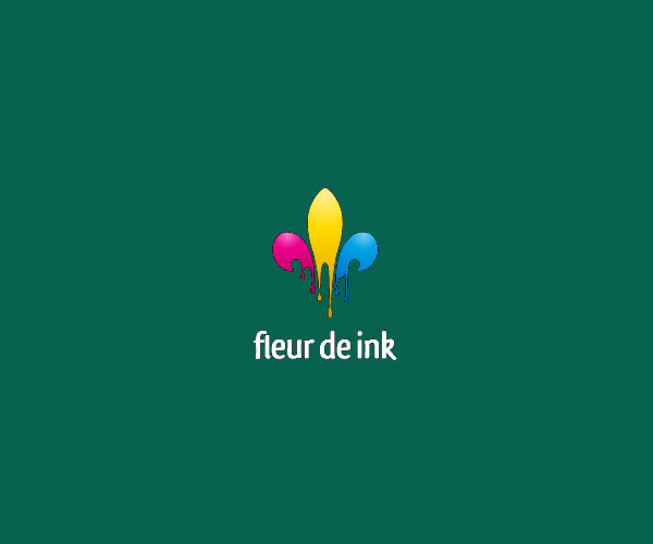 Multicolor Ink Logo Design For Free